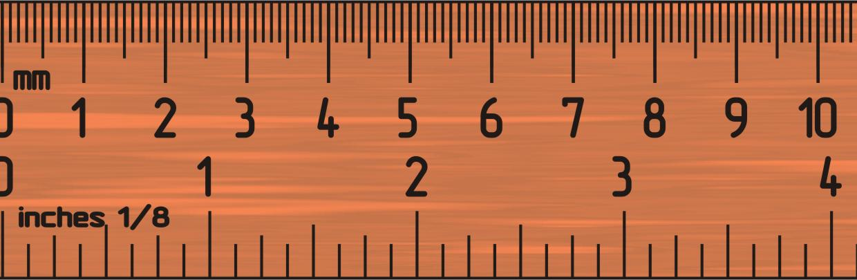 Centimetres and Inches (and fractions of an inch)