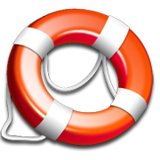 life saving ring as symbol for help